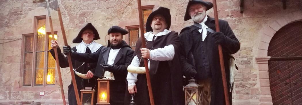 Heidelberg Nachtwaechter auf dem Schloss